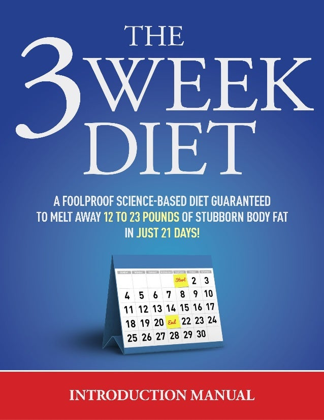 The 3 Week Diet - Introduction Manual   01 ...