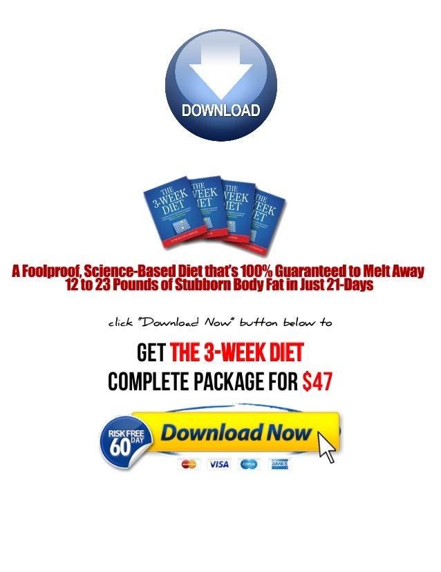 3 week diet system pdf free download