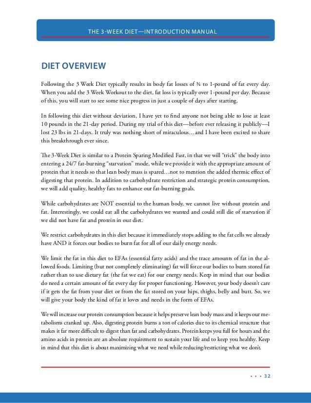 3 week diet manual pdf