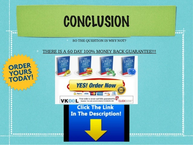 CONCLUSION SO THE QUESTION IS WHY NOT? THEREISA60DAY100%MONEYBACKGUARANTEE!!!