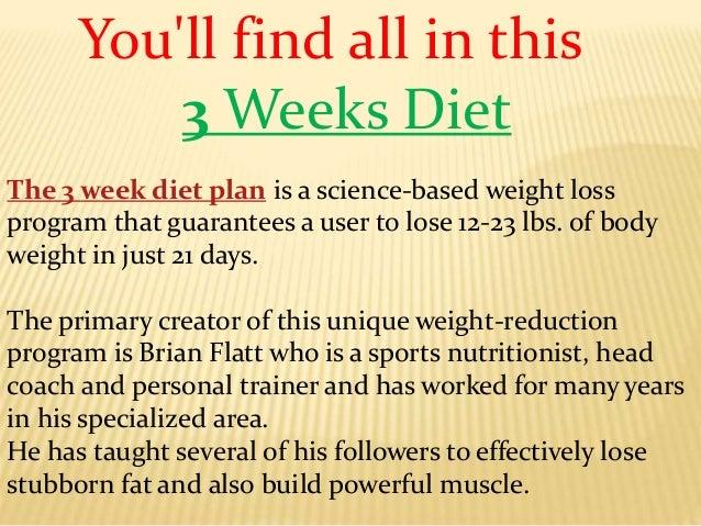 3 Weeks Diet Program Lose Weight In Just 21 Days