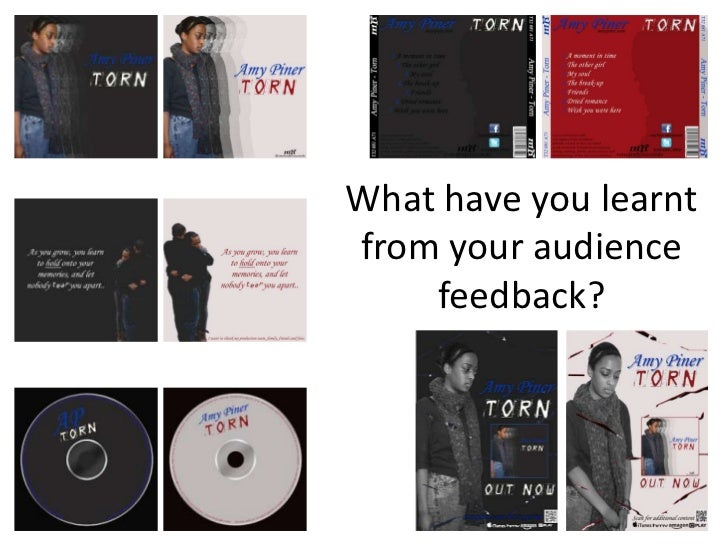 What have you learntfrom your audience    feedback?