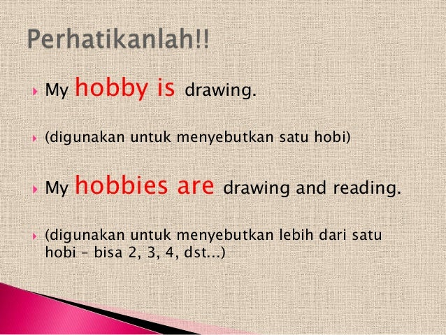 3 what is your hobby