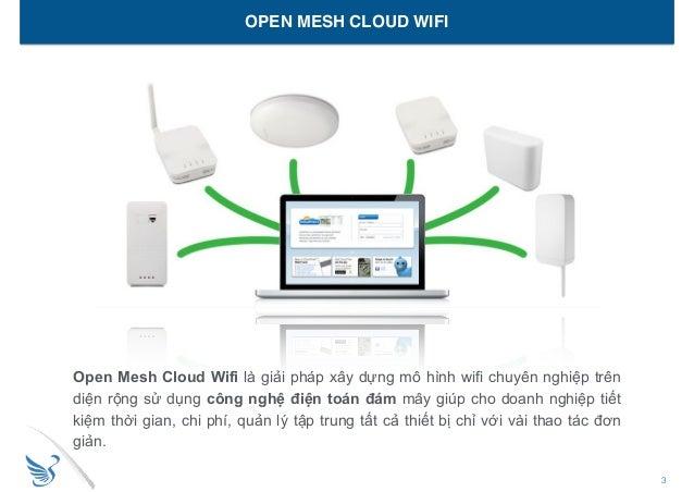 3Wings Open Mesh Cloud Wifi - Giải pháp xây dựng hệ thống wifi diện rộng trên công nghệ Open Mesh. Slide 3