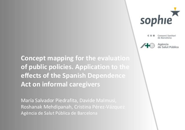 Concept mapping for the evaluation of public policies. Application to the effects of the Spanish Dependence Act on informa...