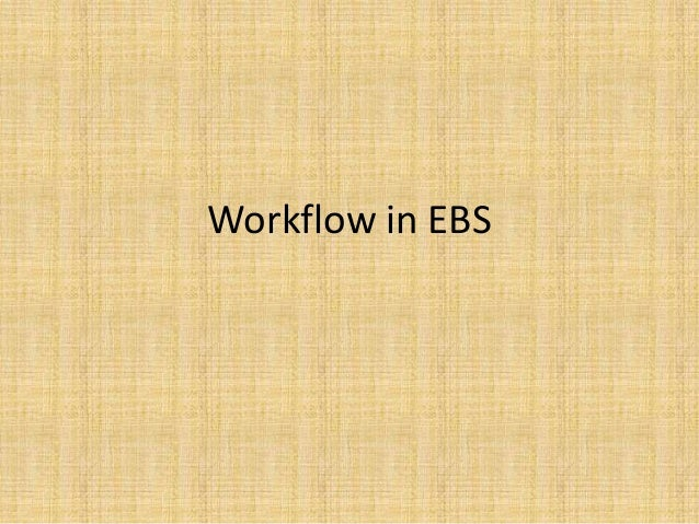 Workflow in EBS