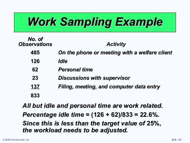 work study.pptx | Workforce Productivity | Sampling ...
