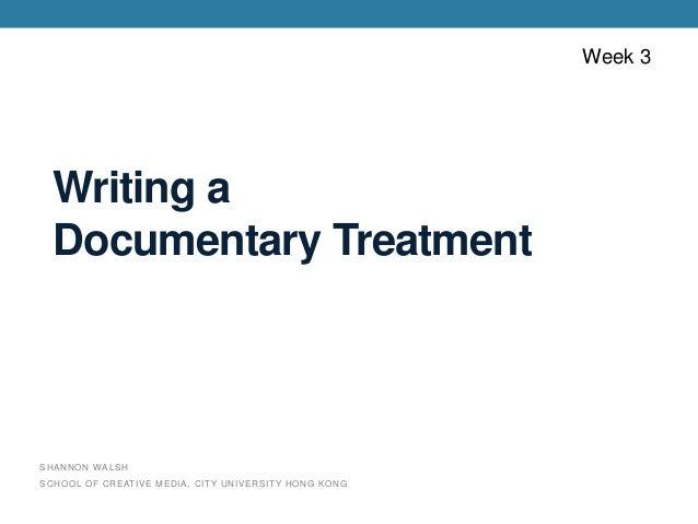 sample black documentary treatment