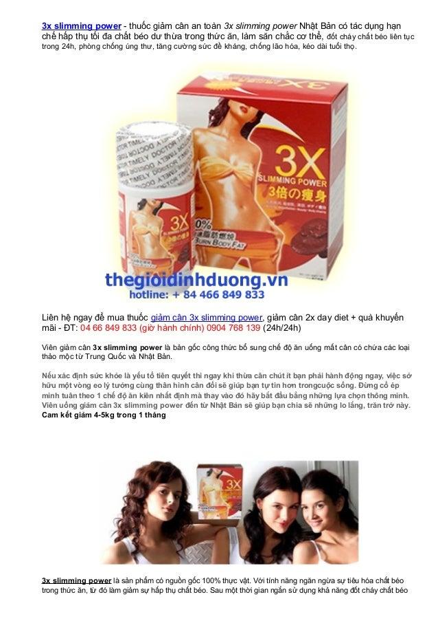 3x slimming power - thuốc giảm cân an toàn 3x slimming power Nhật Bản có tác dụng hạnchế hấp thụ tối đa chất béo dư thừa t...