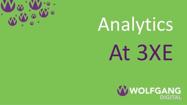 Analytics At 3XE