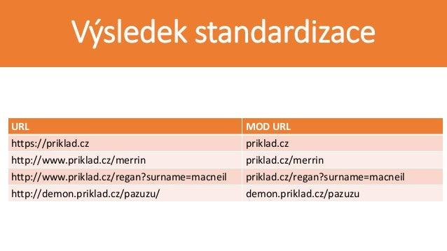 DATASET HISTORICKÝCH URL URL URL_ID priklad.cz ID_1 priklad.cz/merrin ID_2 priklad.cz/regan?surname=macneil ID_3 demon.pri...