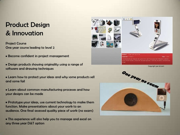 3 year design and technology gcse options auto version with 6 options