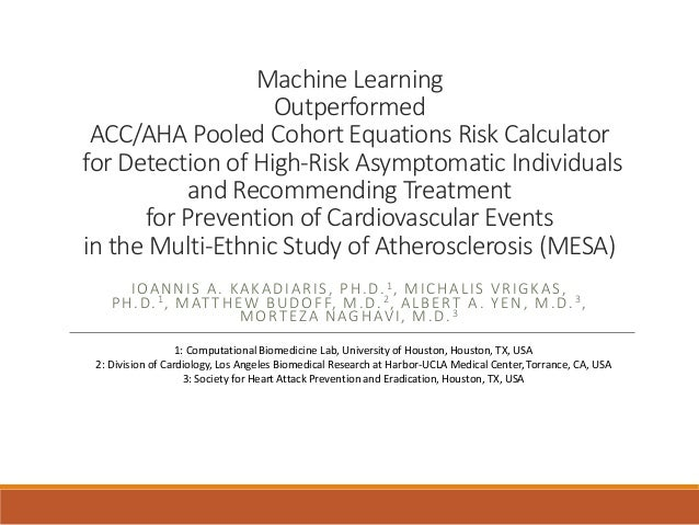 Machine Learning Outperformed ACC/AHA Pooled Cohort Equations Risk Calculator for Detection of High-Risk Asymptomatic Indi...