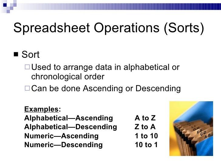 spreedsheet operation |Operations Spreadsheet