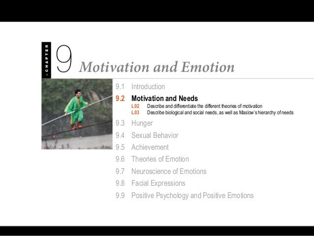 Psychology 101 Chapter 9 Motivation and Emotion