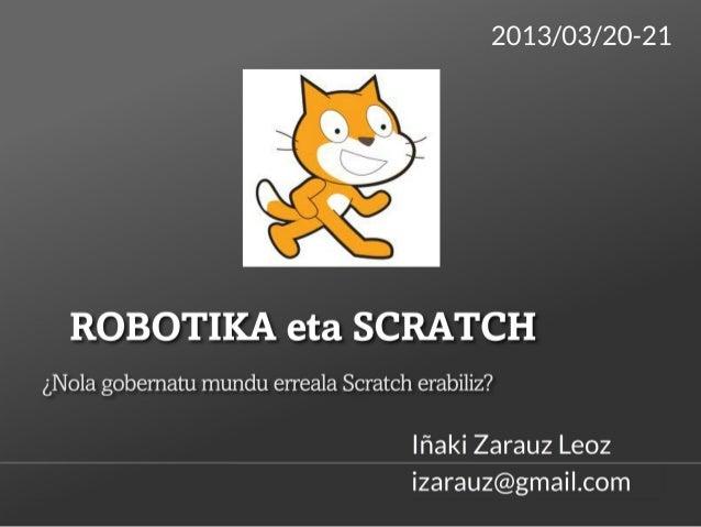 SCRATCH ETA ROBOTIKA. (Manual)