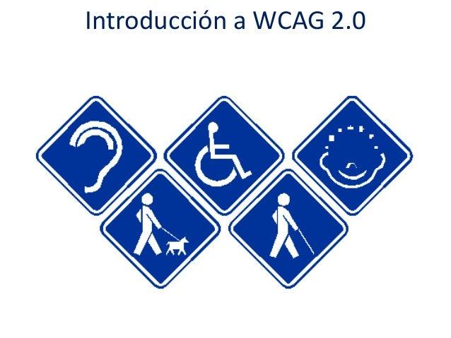 Introducción a WCAG 2.0