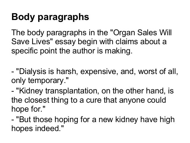Summary Of Organ Sales Will Save Lives Case Study Solution & Analysis