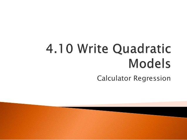 Calculator Regression
