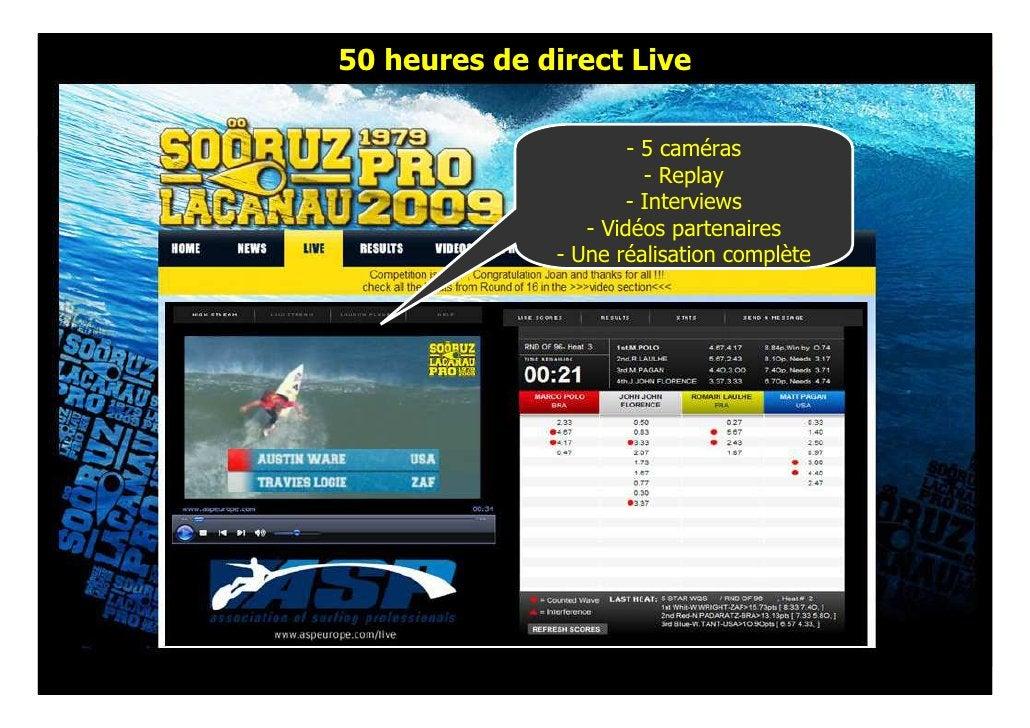 50 heures de direct Live                        - 5 caméras                         - Replay                       - Inter...