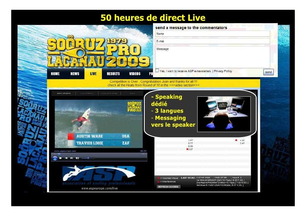 50 heures de direct Live                - Speaking            dédié            - 3 langues            - Messaging         ...
