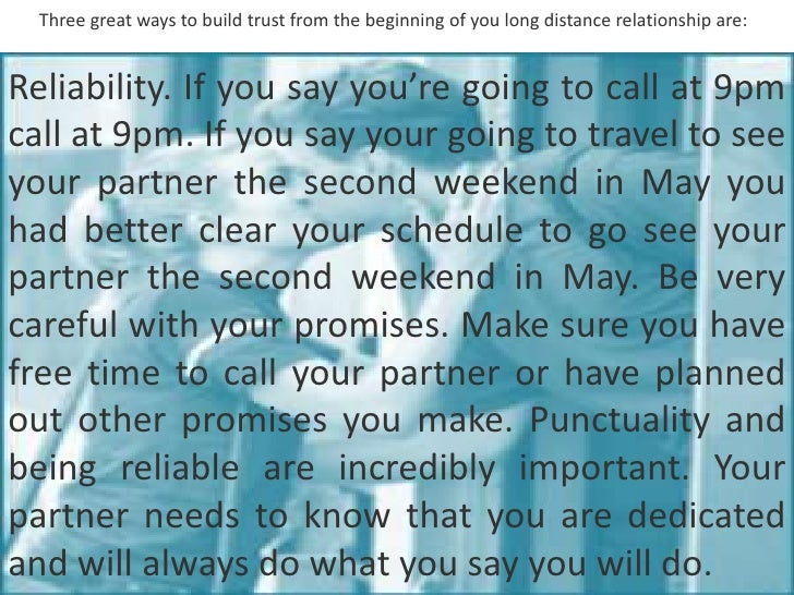 gain trust in long distance relationship
