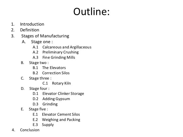 the definition of outline