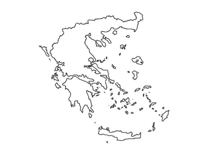 ΚΕΝΟΣ ΧΑΡΤΗΣ ΕΛΛΑΔΑΣ Α4