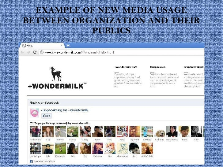 EXAMPLE OF NEW MEDIA USAGE BETWEEN ORGANIZATION AND THEIR PUBLICS
