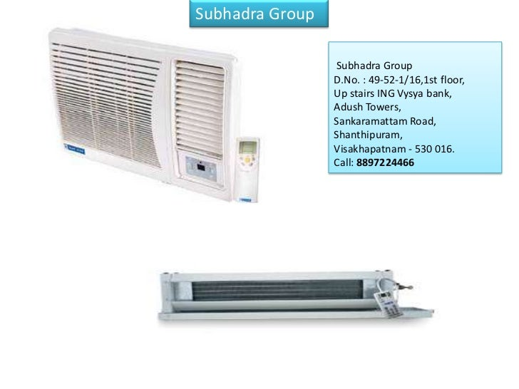 Subhadra GroupAuthorized systems dealerfor BlueStar Ltd. for 3districts of Andhra                           Subhadra Group...