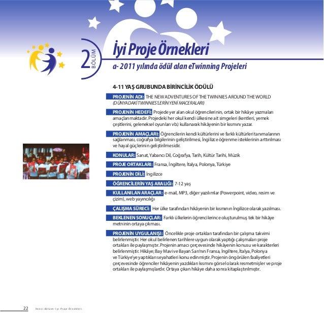22 4-11YAŞ GRUBUNDA BİRİNCİLİK ÖDÜLÜ PROJENİN ADI: THE NEW ADVENTURES OFTHETWINNIES AROUNDTHEWORLD (DÜNYADAKİTWINNIES'LERİ...