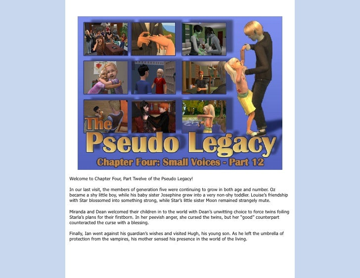 Welcome to Chapter Four, Part Twelve of the Pseudo Legacy!  In our last visit, the members of generation five were continu...