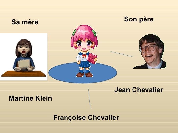 Sa mère                               Son père                                 Jean ChevalierMartine Klein                ...