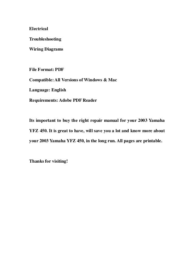 yfz 450 workshop manual download