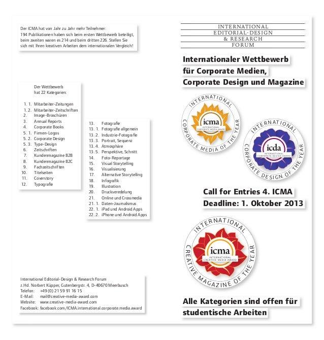 International Editorial-Design & Research Forum z.Hd. Norbert Küpper, Gutenbergstr. 4, D-40670 Meerbusch Telefon: +49 (0) ...