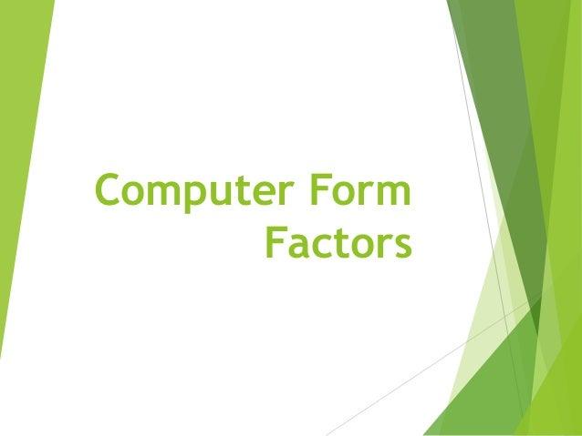 Computer Form Factors