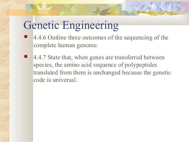 a discussion of whether genetic engineering is right or wrong Ethics, technology and engineering from eindhoven  with which they determine whether an action is right or wrong  discussion prompt: genetic.