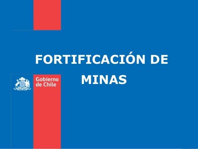 FORTIFICACIÓN DE MINAS