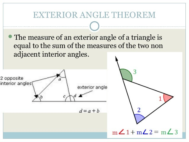 4 1 apply triangle sum properties - Triangle exterior angle theorem proof ...