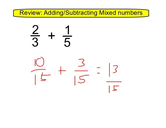4.14 equations with fractions and mixed numbers