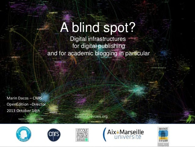 A blind spot? Digital infrastructures for digital publishing and for academic blogging in particular  Marin Dacos – CNRS O...