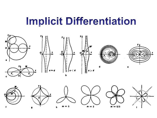 4.1 implicit differentiation