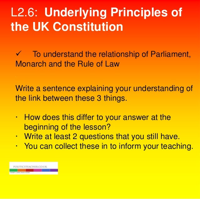 should the uk have a codified constitution essay T o c odify or n ot t o c odify k ingdom ¶s c onstitutional s tatutes the uk constitution in comparative perspective 16.