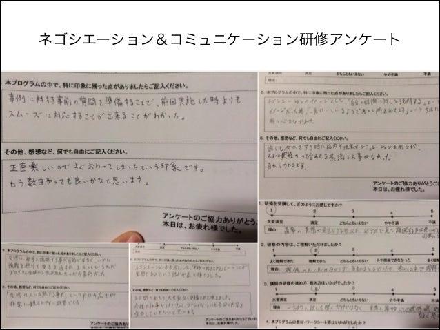 ネゴシエーション&コミュニケーション研修アンケート