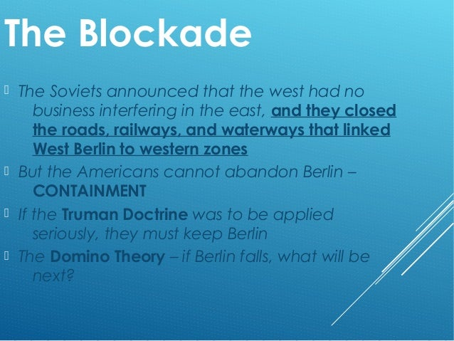 Airlift Berlin Blockade Essay
