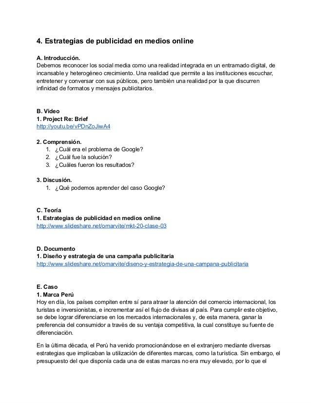 4.Estrategiasdepublicidadenmediosonline  A.Introducción. Debemosreconocerlossocialmediacomounarealidadi...
