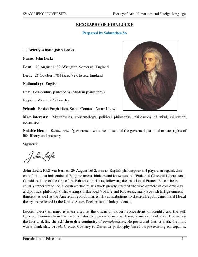 John locke research papers