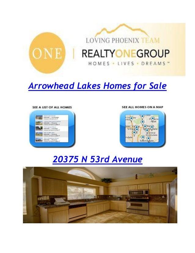 Arrowhead Lakes Homes for Sale 20375 N 53rd Avenue