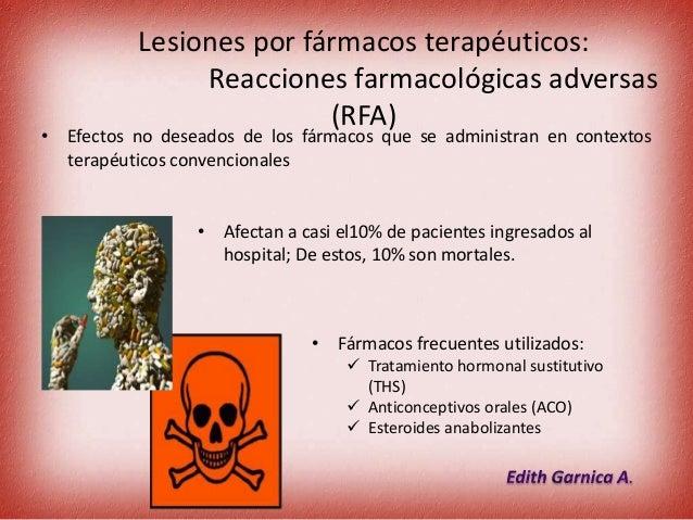 4. lesiones por fármacos terapéuticos