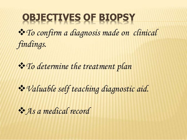b) Area of surgical removal: • Incisional biopsy: consists of the removal of a representative sample of the lesion and nor...